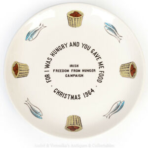 ARKLOW-1964-Loaves-and-Fishes-V-Rare-Christmas-10-034-Cabinet-Plate-Irish-Pottery