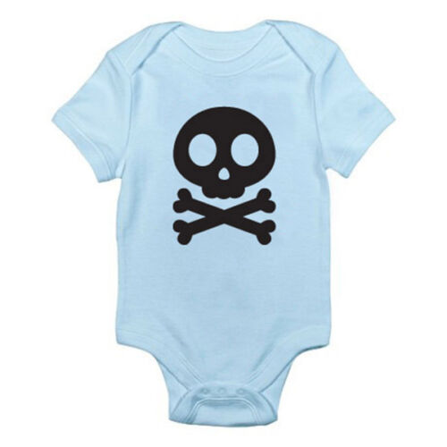 SKULL AND CROSSBONE SILHOUETTE Fun Halloween Novelty Themed Baby Grow//Suit