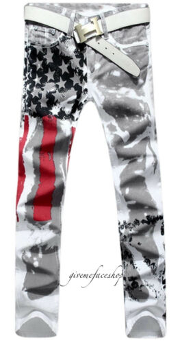 Fit Mens amp; Stars Hip Skinny Urban Stripes Slim Hop Print Jeans Usa Pants HaaqwF5Wr