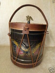 Details about American Eagle Civil War Replica Drum Ice Bucket Old Drum  Shop Military Flag US