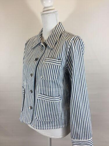Madewell G4913 M Stripe Railroad Poppy New Sz Jacket Shrunk Workwear UdqUwPH