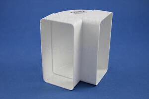 Flachkanalbogen 90° senkrecht Bogen Flachkanal Lüftungskanal DN 100 110 x 55 mm