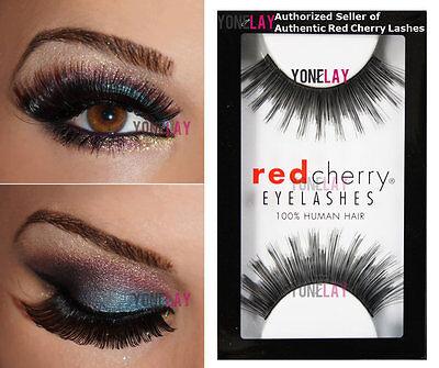 1 Pair AUTHENTIC RED CHERRY #5 Wellington Human Hair False ...