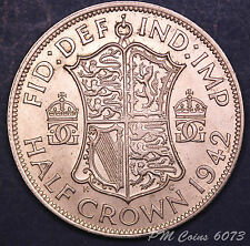 1942 George VI Half Crown 2/6 Silver 500 coin *[6073]