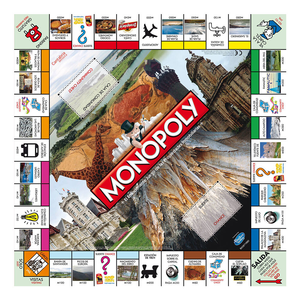 Monopoly Edition Cantabria - Set table - Versión in in in Spanish English 0a7583