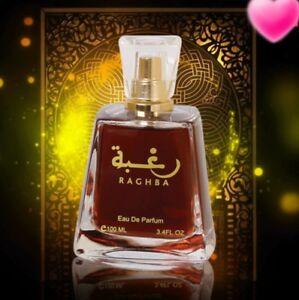 Raghba-By-Lattafa-Spray-Vanilla-Balsamic-Oud-Sweet-Powdery-Sugar-Incense-Musk
