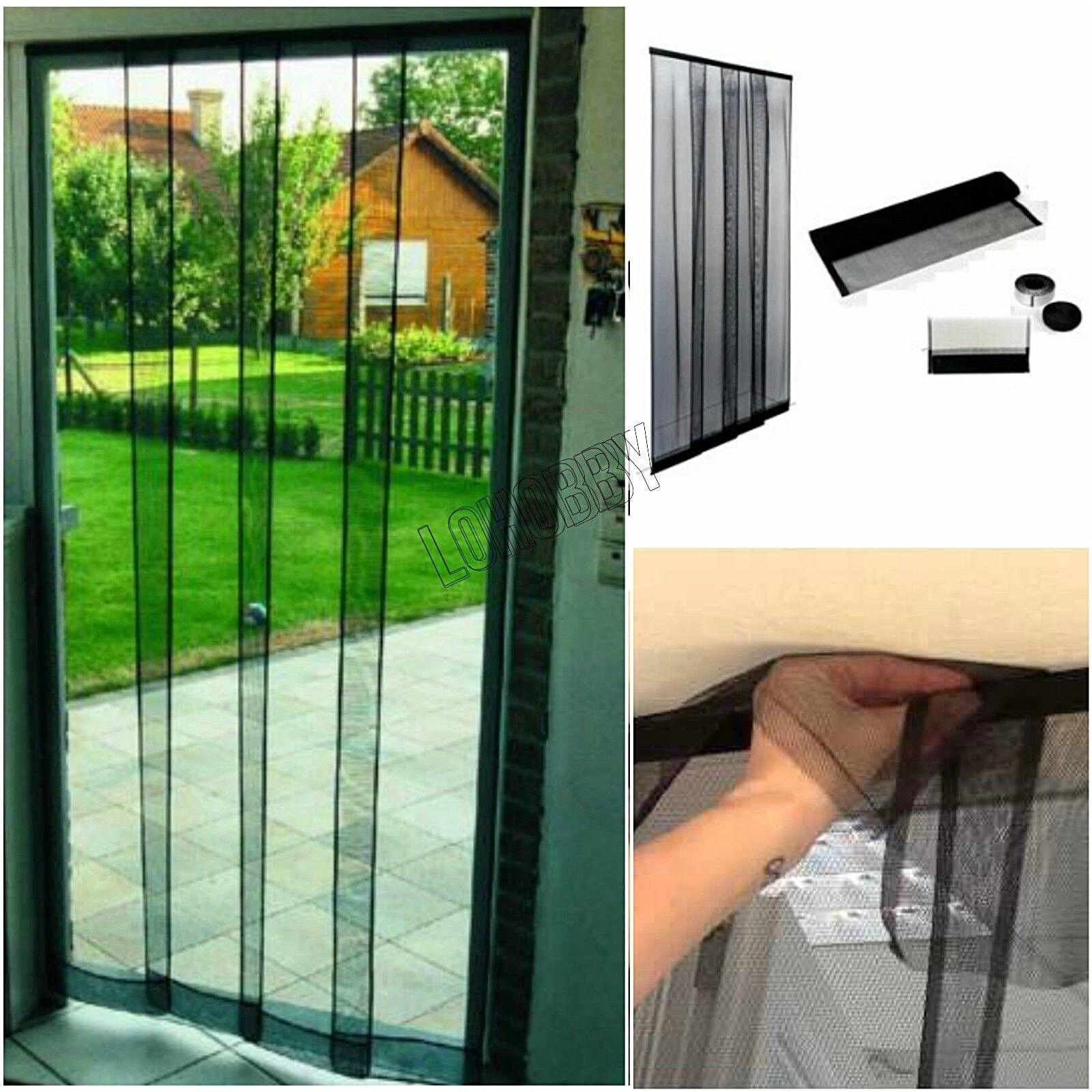Rivista Porte E Finestre dettagli su tenda zanzariera a pannelli strisce 140x250 porta finestra  tende porte finestre