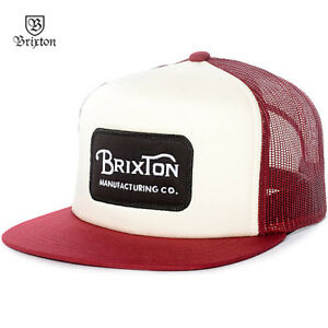 quite nice a4251 615d8 Image is loading Brixton-Grade-Trucker-Snapback-Baseball-Cap-Hat-Red-