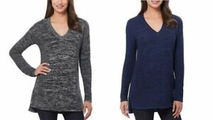 NEW-Ellen-Tracy-Ladies-039-V-Neck-Knit-Marled-Pullover-Sweater-VARIETY