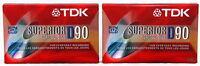 Tdk Superior D90 Normal Bias (2) Cassette Tapes Audio Iec