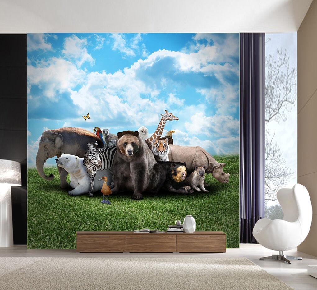 3D Sky Animal Lawn 84 Wallpaper Mural Paper Wall Print Wallpaper Murals UK