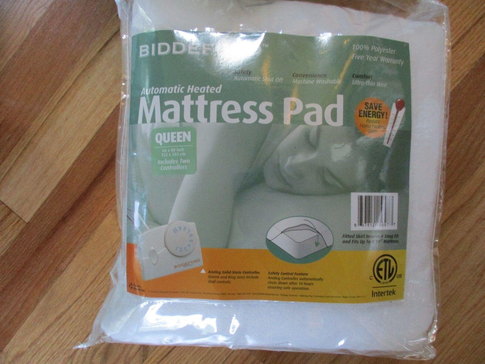 Biddeford Blankets Electric Heated Mattress Pad, Queen brand new DIRECT FACTORY