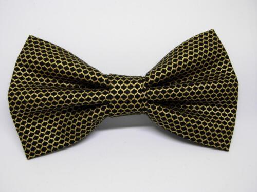 Black /& Gold Bow tie Weddings Metallic Gold Mesh Design Pre-tied Bow tie