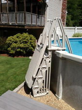 A-Frame Resin Hybrid Ladder & Step Entry System for Above Ground Swimming Pools