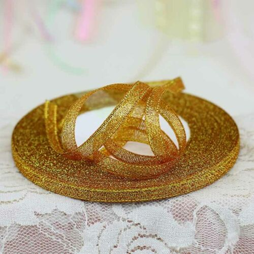 25Yard Glitter Ribbons For DIY Crafts Sewing Fabric Party Supplies Gift Wrap