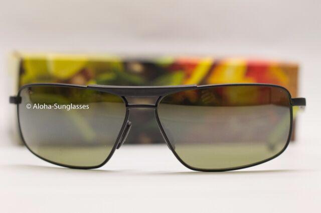 0eba5052131d NEW mens Maui Jim Keanu Matte Black Green Polarized Lenses Sunglass MSRP  $289