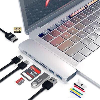 Dual Type C Hub Adapter 4K HDMI USB 3.0 Card Reader Dongle For MacBook Pro Mac