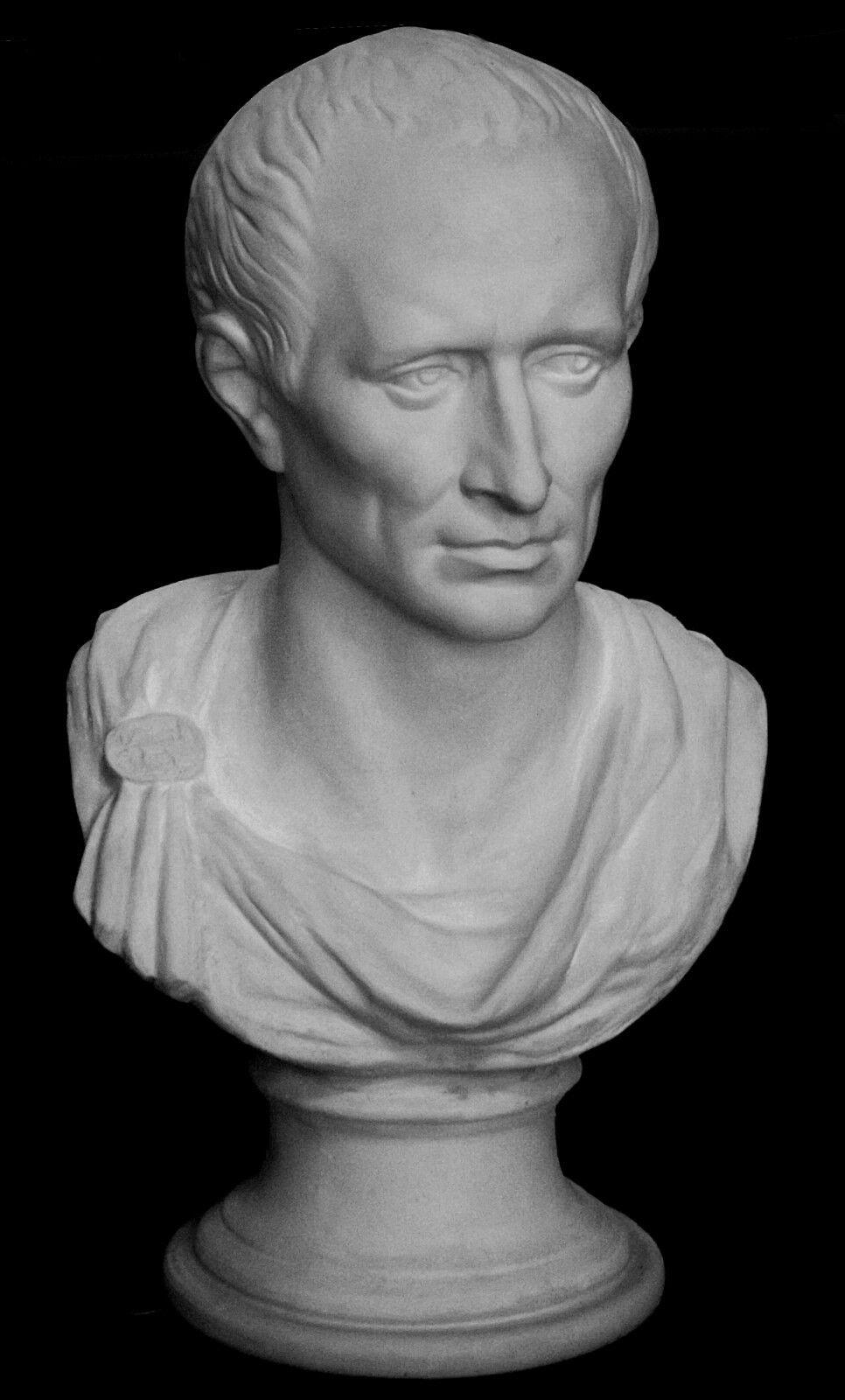 Julius Caesar Italian Greek style sculpture statue Bust 62x34x28 cm Weiß AU SYD