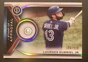 100/150 LOURDES GURRIEL, JR - 2021 Topps Tribute - Authentic GU Jersey BLUE JAYS