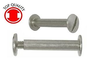 "Aluminum Binding Post/Screw / Chicago Binder Screw / Post #8-32 X 2-1/2"" 100sets"