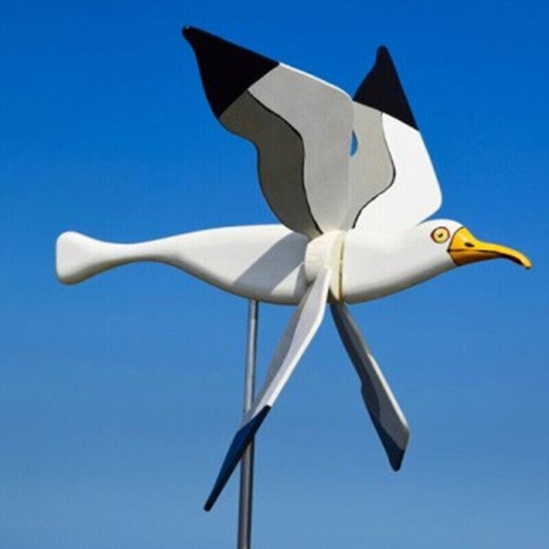 Windmill Decoration Bird Shape Garden Wind Ornament Rotating Lawn Yard Prop