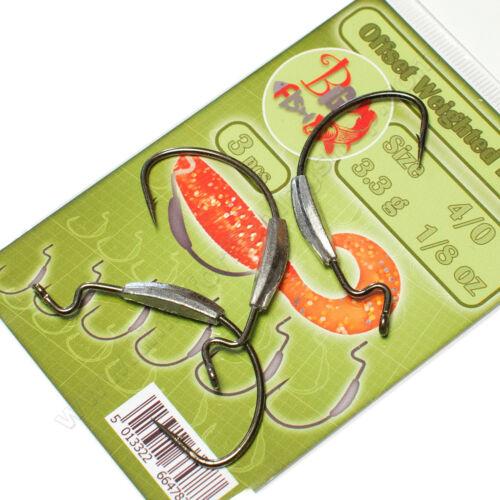 Offset Hooks pondérée alternent Ver sandre agrès de pêche Leurres Doux Appât