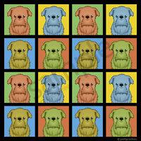 Brussels Griffon Cartoon Pop-art T-shirt, Men Women Youth Tank Short Long Sleeve