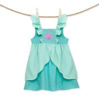 Smocked Little Mermaid Ariel Flutter Sleeve Dress NEW *girl boutique *