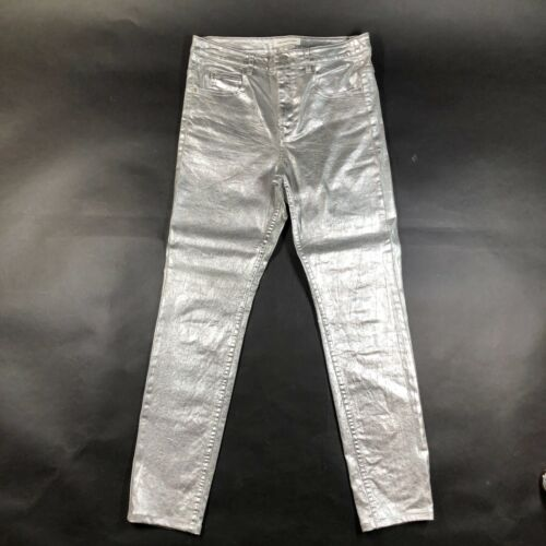Isabel Marant Etoile Jeans Womens 40 Shiny Silver