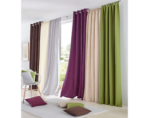 Details about Modern Blackout Window Sheer Curtains Panels Darkening Living  Room Home Decor