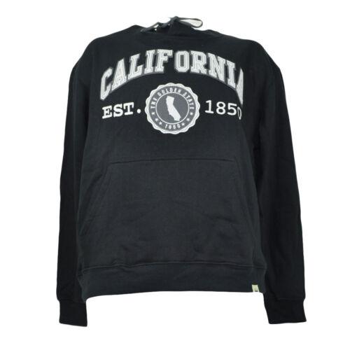 California Cali The Golden State Black Hoodie Est 1850 Mens Kangaroo Pockets