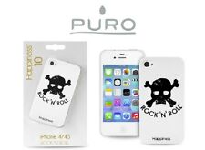 PURO COVER CUSTODIA IPHONE 4 4S ROCK'N'ROLL TESCHIO COLLEZIONE HAPPINESS