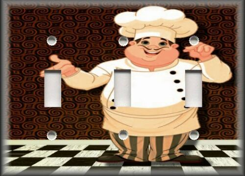 Brown Fat Chef Decor Kitchen Metal Light Switch Plate Cover Plates Outlet Covers Home Garden