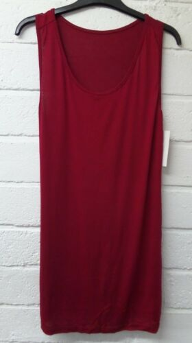 Womens Ladies New Stretchy Long Sleeveless Plain Casual Vest Top COLOURS UK 8-16