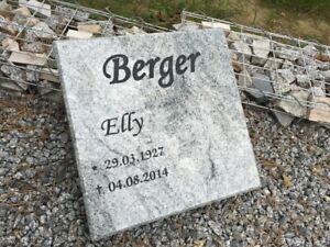 Liegeplatte Grabplatte Grabstein Granit INKL. SCHRIFT Urnengrab Doppelgrab Stein