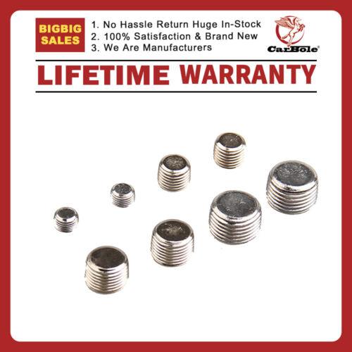 1//2 NPT 1//4 6352G Pipe Fitting P-PPG1000 Plug Assortment Chrome 1//8 3//8