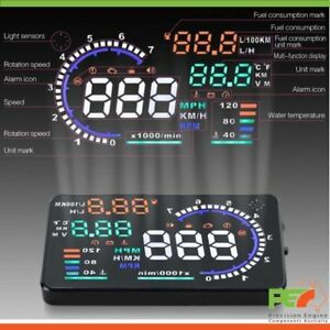 "A8 5.5/"" Head Up Display OBD2 Windscreen Dashboard Projector For Ford x2 Falcon"