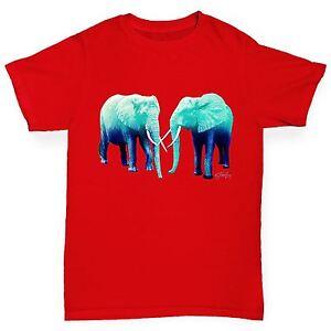 Twisted-Envy-Garcon-039-S-Bleu-Elephants-T-shirt-en-coton