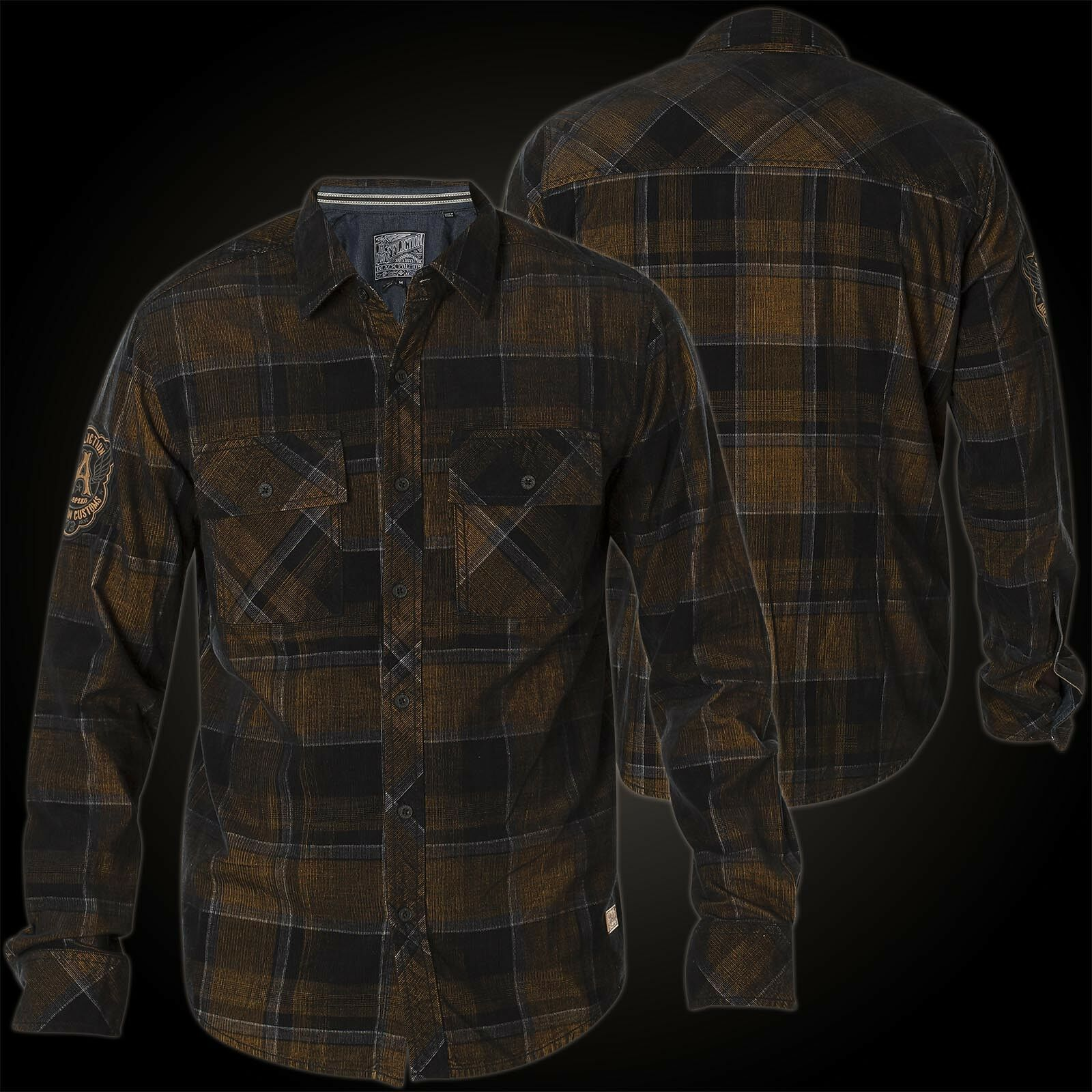 Affliction Camicia Copper Mountain Marroneee nero Camicie