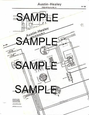 1962 1963 1964 AUSTIN HEALEY SPRITE MK II 62 63 64 WIRING DIAGRAM CHART |  eBayeBay