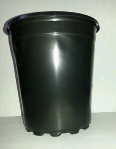 Set Of 10 Trade 2 Gallon Nursery Black Plastic Pots