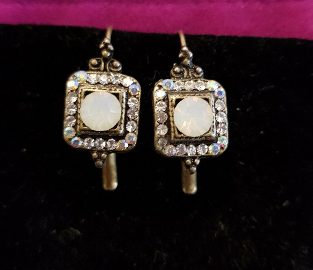Adaya Earrings,Maya Reiten handcrafted in Israel.Swarovski and hand made beads.