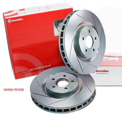 DIMPL SLOTTED REAR DISC BRAKE ROTORS for Subaru WRX 2.5L Turbo *Non STi* 2007 on