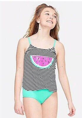 Justice Swim Girls Swim Suit Bottom Size 12 Purple Multi New