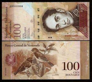 Venezuela-100-Bolivares-2013-P-New-Z-Prefix-REPLACEMENT-UNC