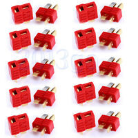 10 Pairs Deans Plug T Style Connector Female / Male For RC LiPo Battery ESC CG