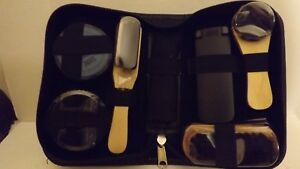 Deluxe-Shoe-Shine-Polish-Cleaning-Brushes-Set-Kit-In-A-Case-Ideal-For-Travel
