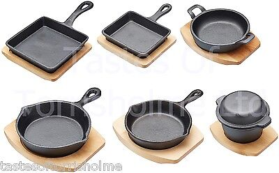 Home, Furniture & Diy Frying Pots & Pans & Wooden Serving Board Promoting Health And Curing Diseases Just Kitchen Craft Cast Iron Mini Cookware Frying & Grill Pans