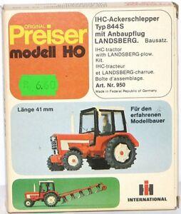 Preiser-H0-950-Ihc-Ackerschlepper-Type-844S-avec-Charrue-Monte-Landsberg-Neuf