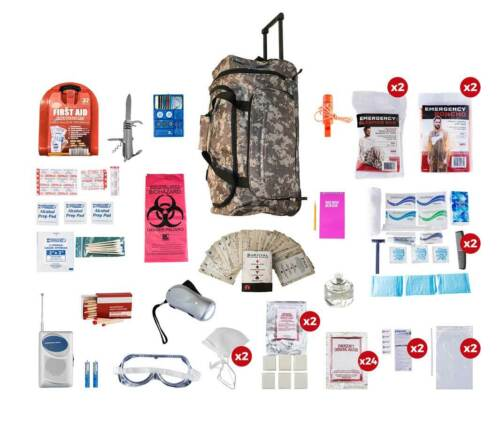 CAMO Wheel Bag 72+ Hours 2 Person Deluxe Survival Kit